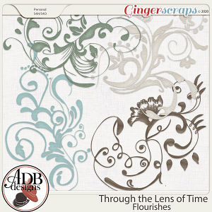 Through The Lens of Time Flourishes by ADB Designs