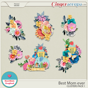 Best Mom ever - clusters pack 1