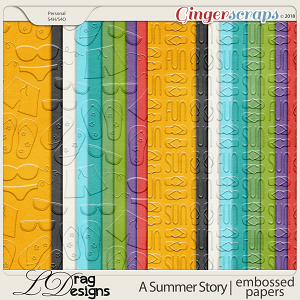 A Summer Story: Embossed Papers by LDragDesigns