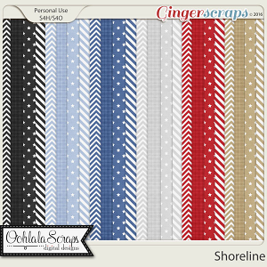 Shoreline Patterned Papers