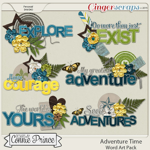 Adventure Time - Word Art Pack