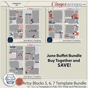 CU - Artsy Blocks 5-7 Template Bundle by Miss Fish