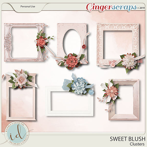 Sweet Blush Clusters by Ilonka's Designs