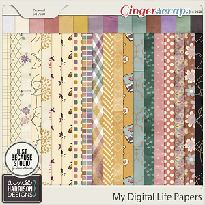 My Digital Life Paper Pack by Aimee Harrison and JB Studio