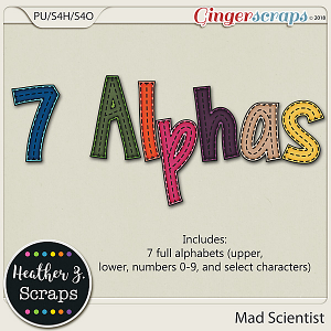Mad Scientist ALPHABETS by Heather Z Scraps