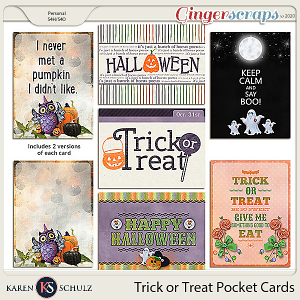 Trick or Treat Pocket Cards by Karen Schulz