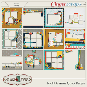 Night Games Quick Pages - Scraps N Pieces