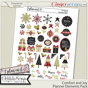 Comfort and Joy Planner Stickers Elements Pack