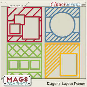 12x12 Diagonal Layout Frame Templates by MagsGraphics