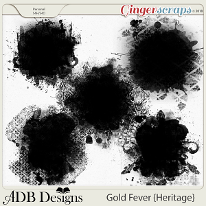Gold Fever Heritage Masks by ADB Designs