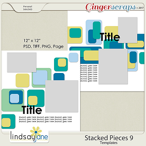 Stacked Pieces 9 Templates by Lindsay Jane