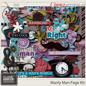 Manly Man Page Kit by Aimee Harrison