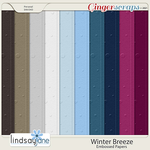 Winter Breeze Embossed Papers by Lindsay Jane