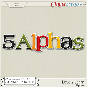 Love 2 Learn - Alpha Pack AddOn by Connie Prince