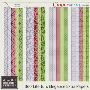 360°Life June: Elegance Extra Papers by Aimee Harrison