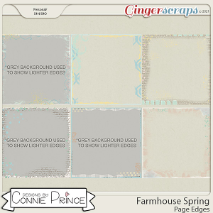 Farmhouse Spring -  Page Edges by Connie Prince
