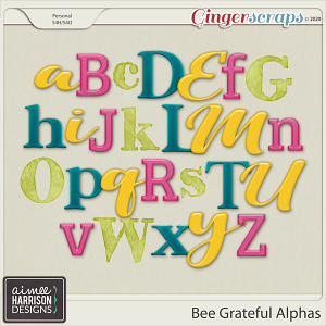 Bee Grateful Alpha Sets by Aimee Harrison