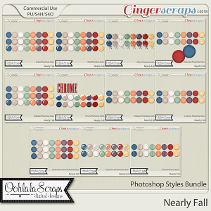Nearly Fall CU Photoshop Styles bundle
