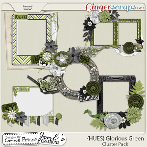 {HUES} Glorious Green - Cluster Pack
