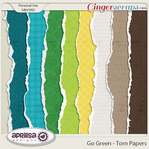 Go Green - Torn Papers