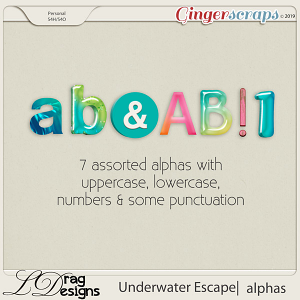 Underwater Escape: Alphas by LDragDesigns