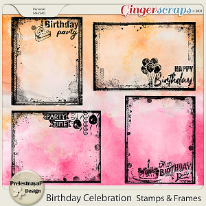Birthday Celebration Stamps & Frames