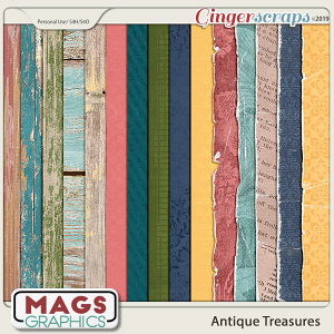 Antique Treasures SPECIALTY PAPERS by MagsGraphics