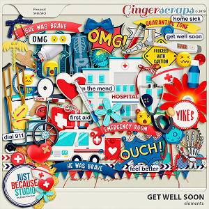 Get Well Soon Elements by JB Studio