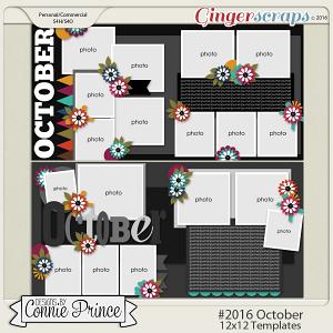 #2016 October - 12x12 Template Pack (CU Ok)