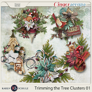 Trimming the Tree Clusters 01 by Karen Schulz