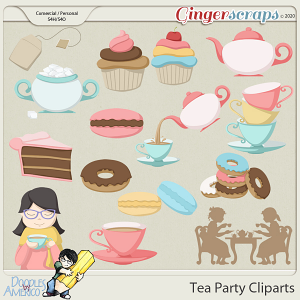 Doodles By Americo: Tea Party Cliparts