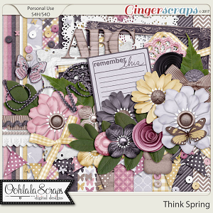 Think Spring Digital Scrapbook Kit