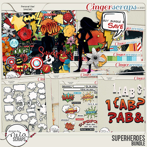 Superheroes - Bundle by Neia Scraps