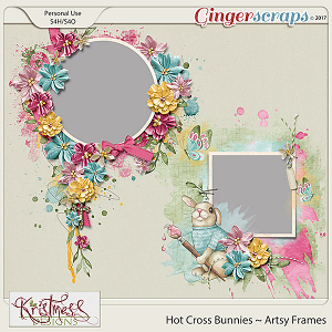Hot Cross Bunnies Artsy Frames