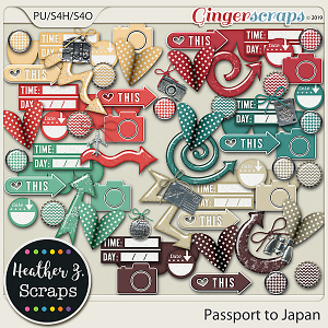 Passport to Japan ACCENTS by Heather Z Scraps