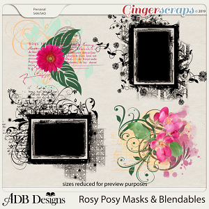 Rosy Posy Masks by ADB Designs