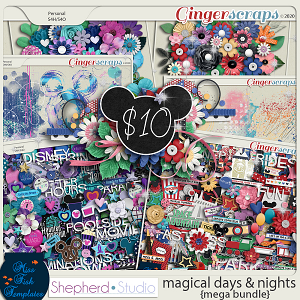 Magical Days and Nights Digital Scrapbooking MEGA Bundle by Shepherd Studio and Miss Fish