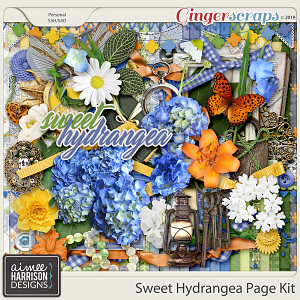 Sweet Hydrangea Page Kit by Aimee Harrison
