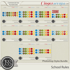 School Rules CU Photoshop Styles Bundle