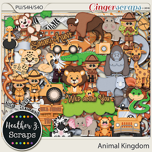 Animal Kingdom ELEMENTS by Heather Z Scraps