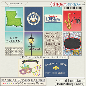 Best of Louisiana (journaling cards)