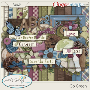 Go Green - Page Kit