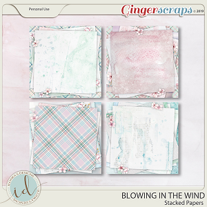Blowing In The Wind Stacked Papers by Ilonka's Designs