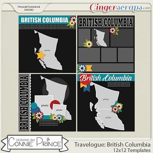 Travelogue British Columbia Canada - 12x12 Temps (CU Ok) by Connie Prince