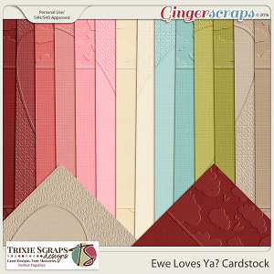 Ewe Loves Ya? Cardstock by Trixie Scraps Designs