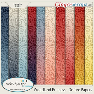 Woodland Princess Ombre Papers