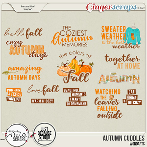 Autumn Cuddles - Word Art - by Neia Scraps and JB Studio