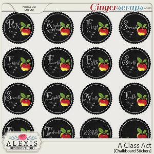 A Class Act - Chalkboard Stickers