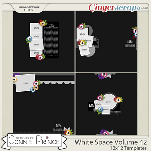 White Space Volume 42 - 12x12 Temps (CU Ok) by Connie Prince