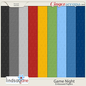 Game Night Embossed Papers by Lindsay Jane